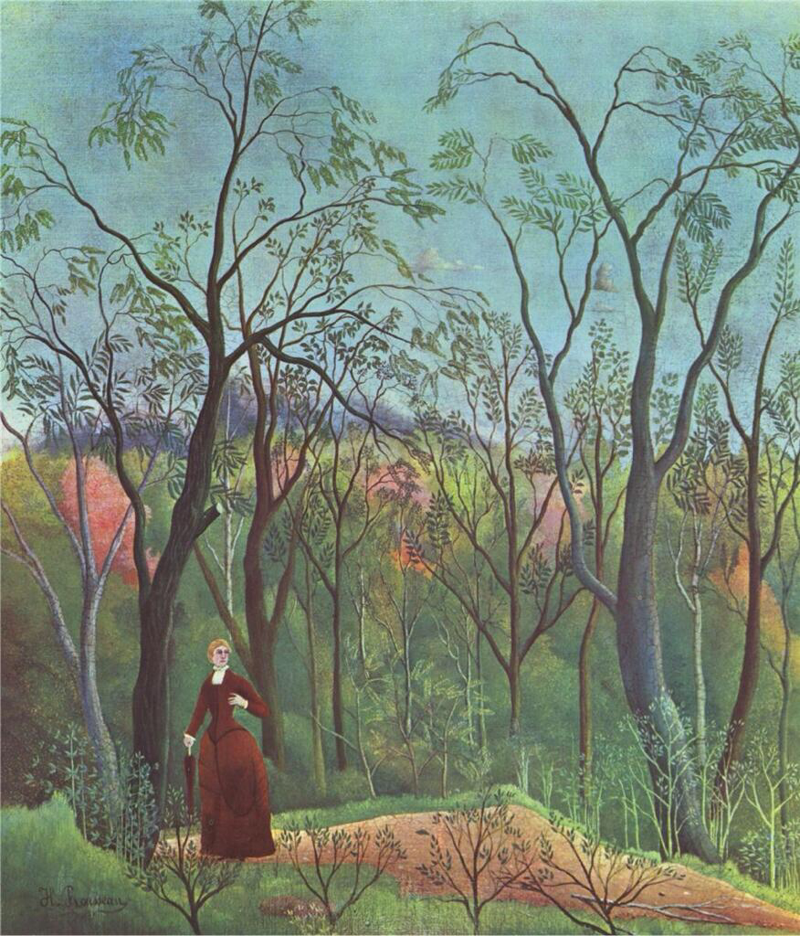 The Walk in the Forest - Henri Rousseau