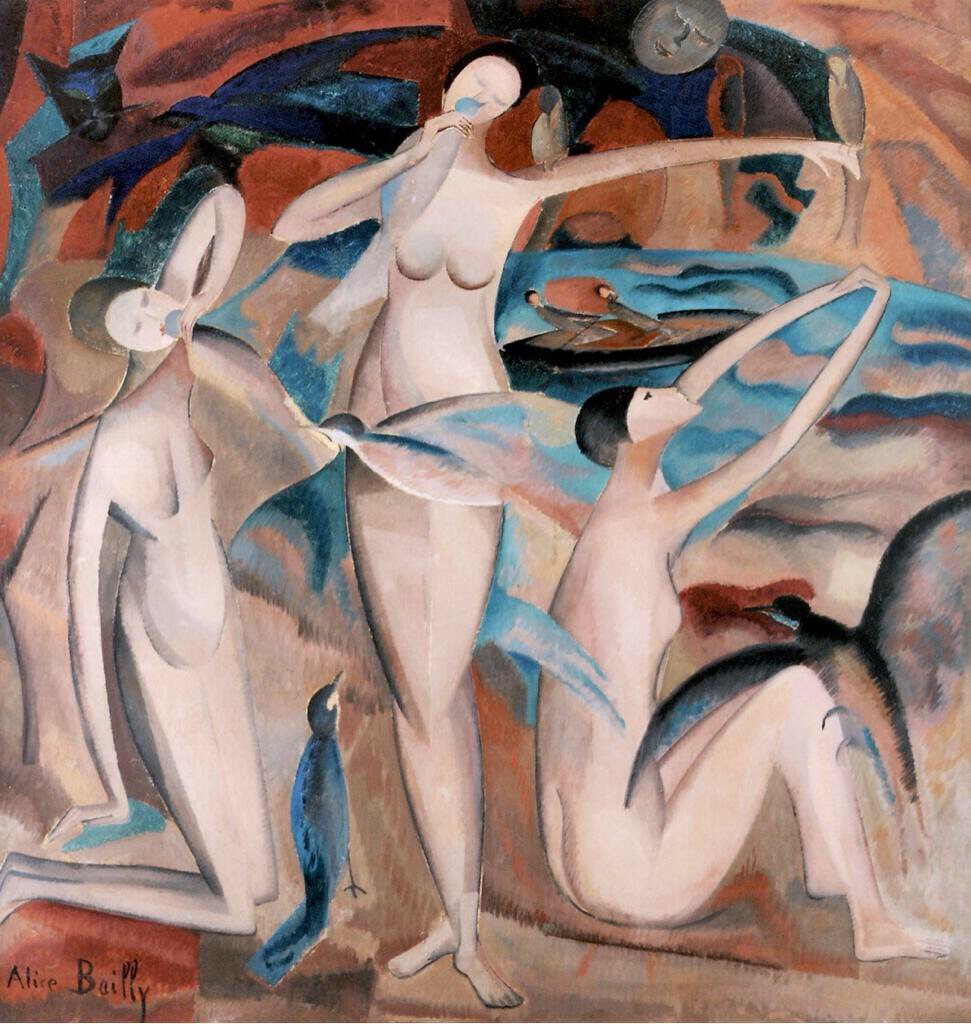 Bathers with Birds - Alice Bailly