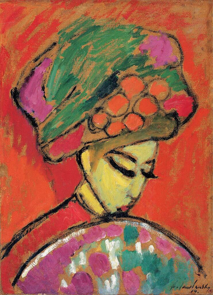 Young Girl with a Flowered Hat - Alexei Jawlensky