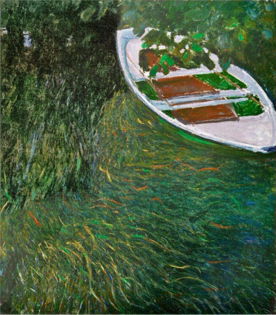 The Row Boat - Claude Monet