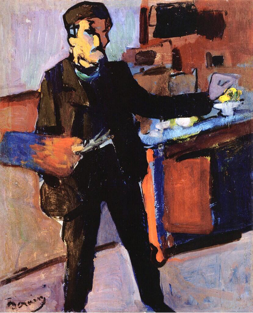 Self-portrait in Studio - André Derain