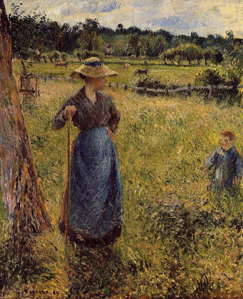 The Tedder - Camille Pissarro
