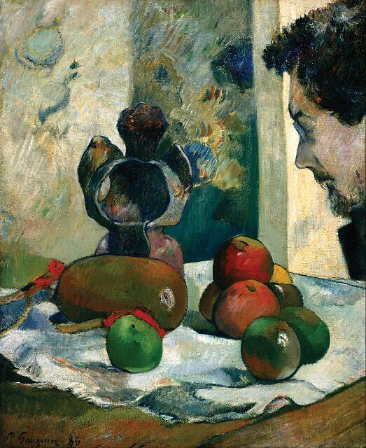 Still Life With Profile Of Laval - Paul Gauguin