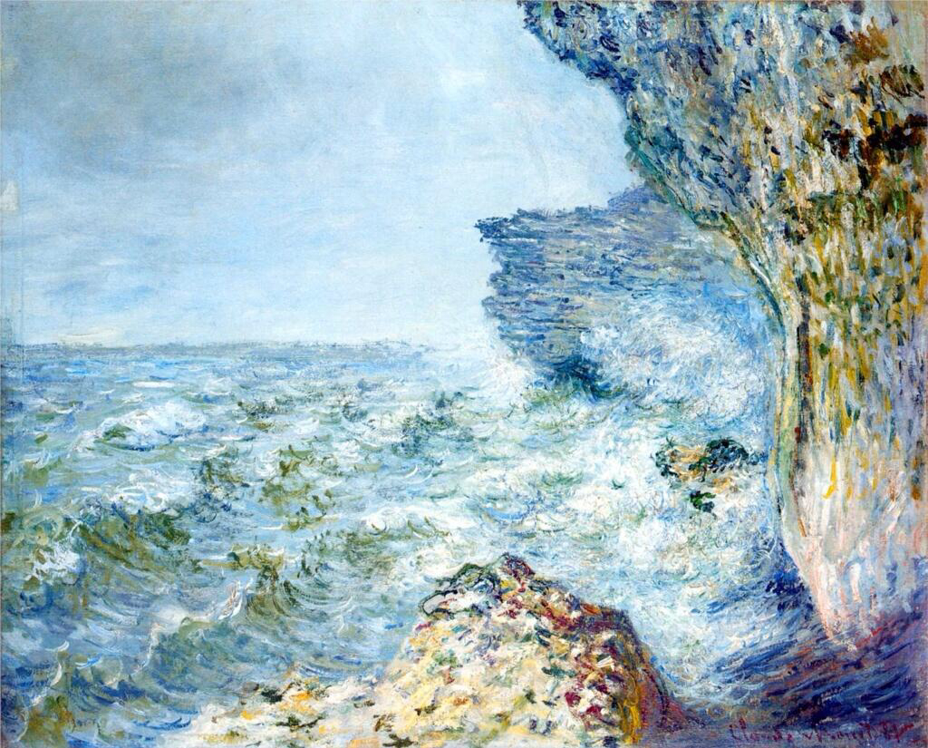 The Sea at Fecamp - Claude Monet