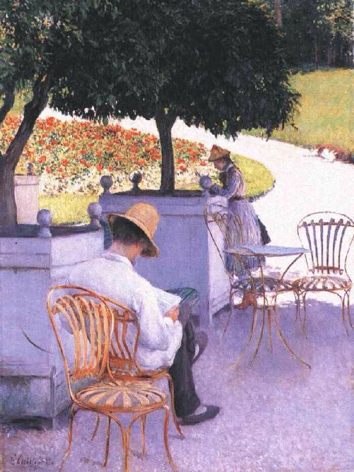 The Orange Trees - Gustave Caillebotte