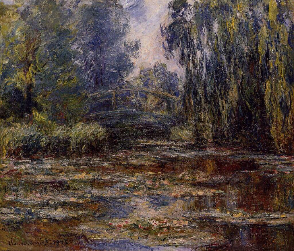 The Water-Lily Pond and Bridge - Claude Monet