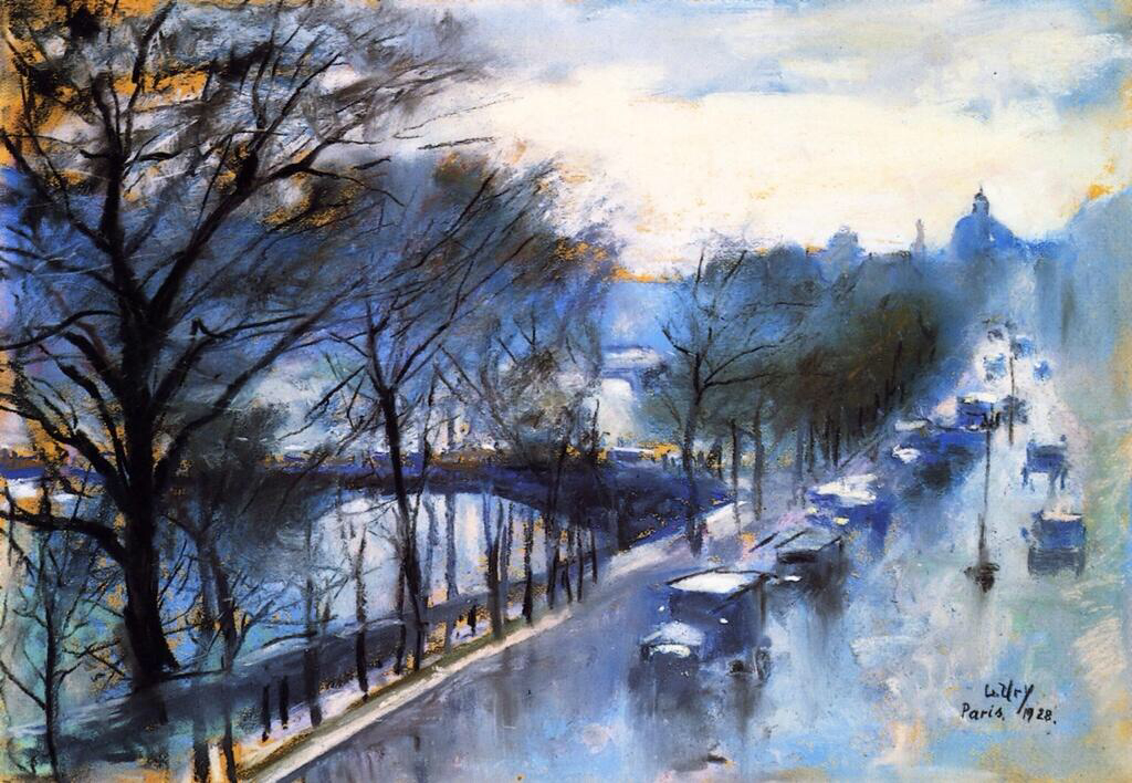 Paris, Rainy Day at the Quai Voltaire - Lesser Ury