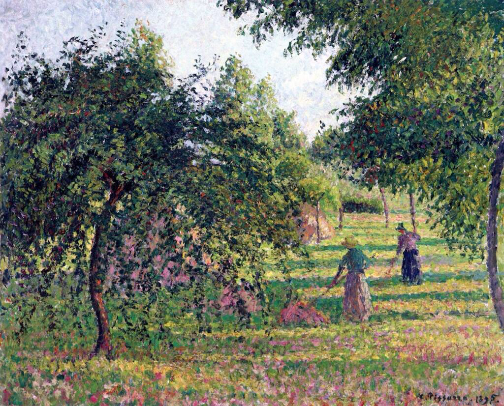 Apple Trees and Tedders, Eragny - Camille Pissarro