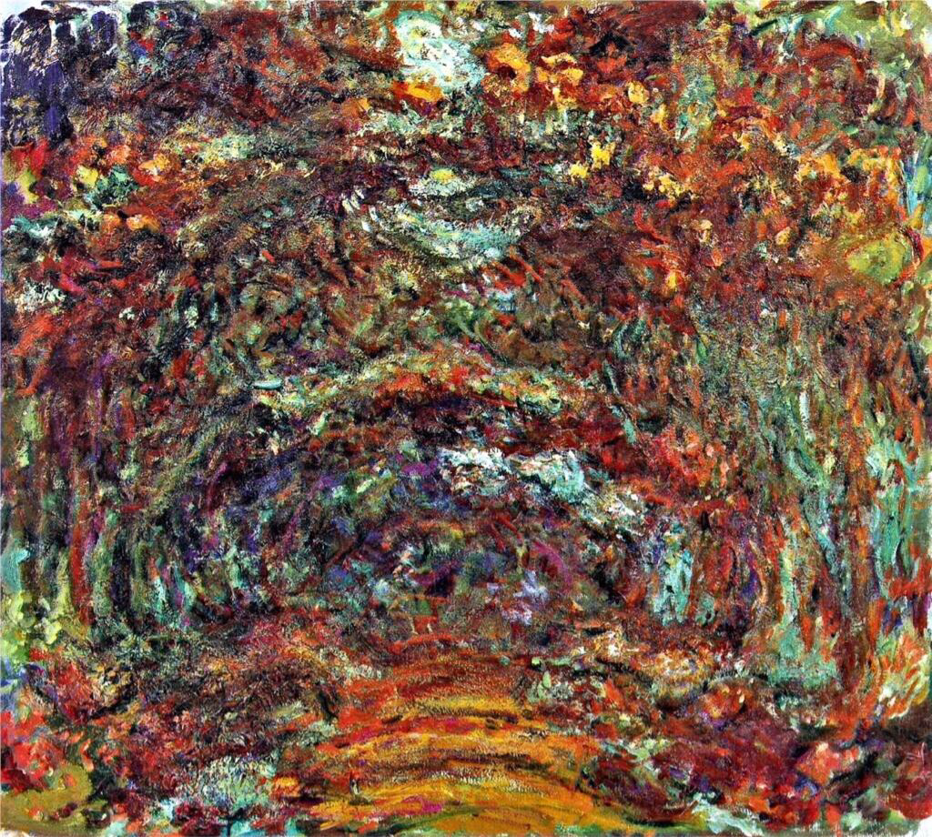 The Rose Path, Giverny - Claude Monet