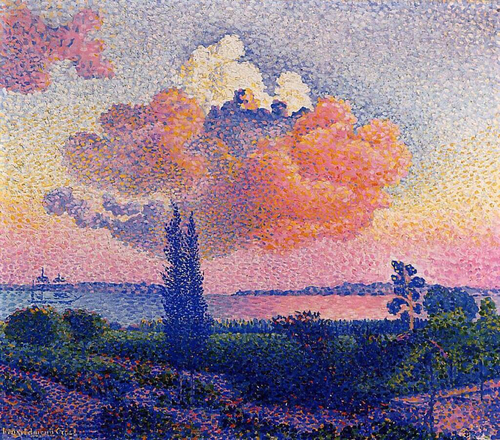 The Pink Cloud - Henri-Edmond Cross