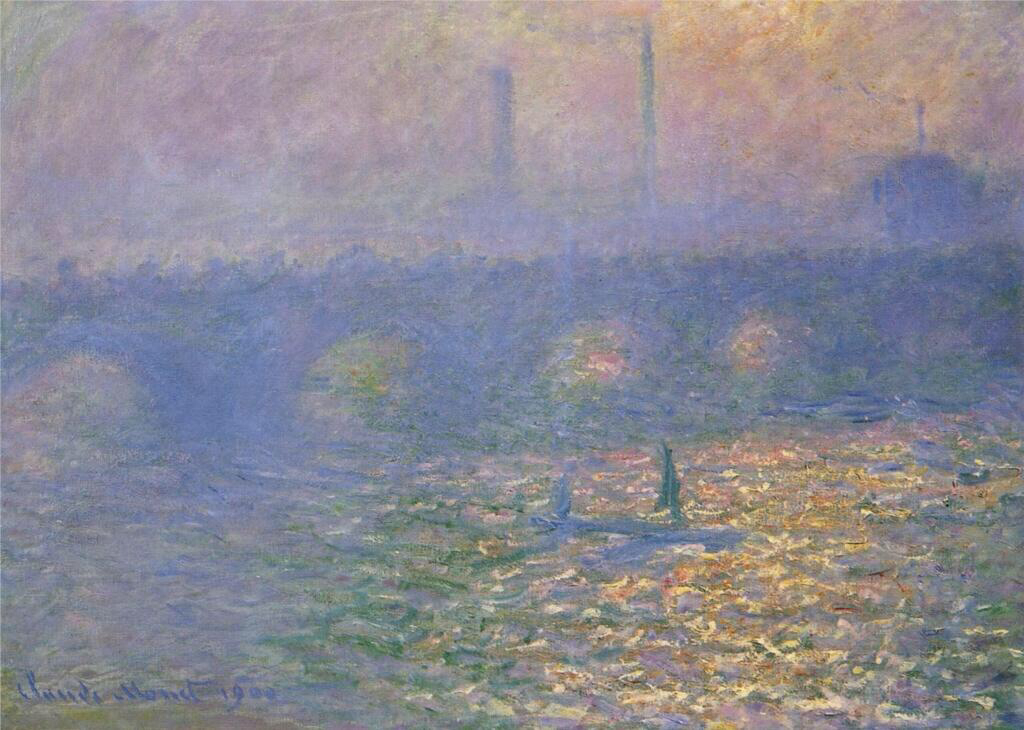 Waterloo Bridge, London - Claude Monet