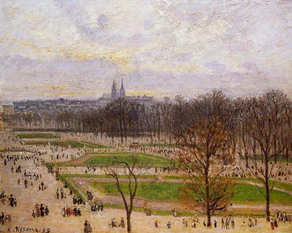 The Tuilleries Gardens, Winter Afternoon - Camille Pissarro