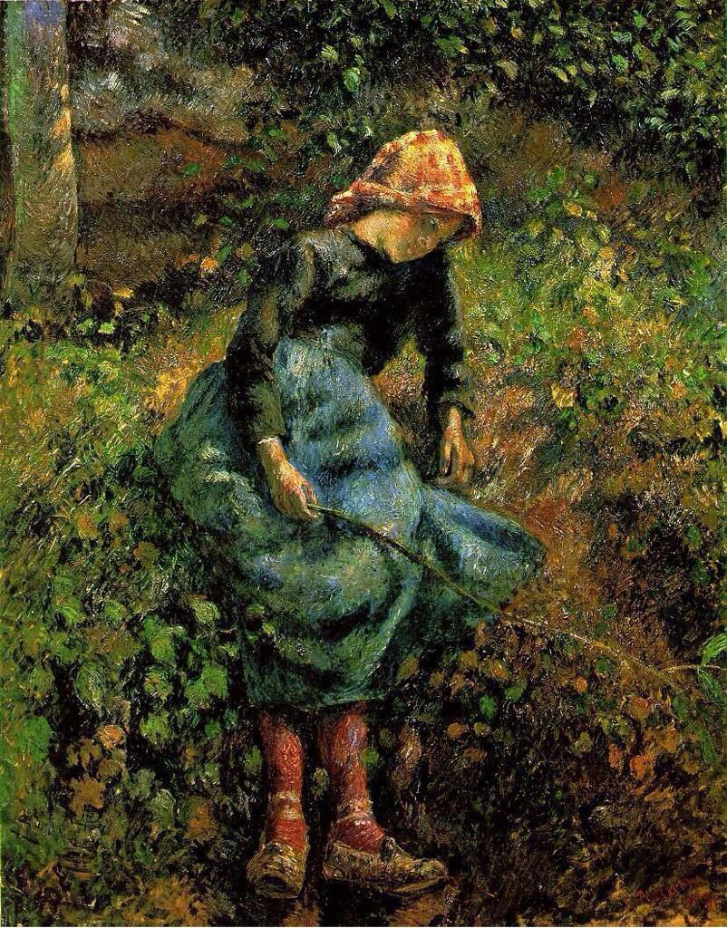 The Shepherdess - Camille Pissarro
