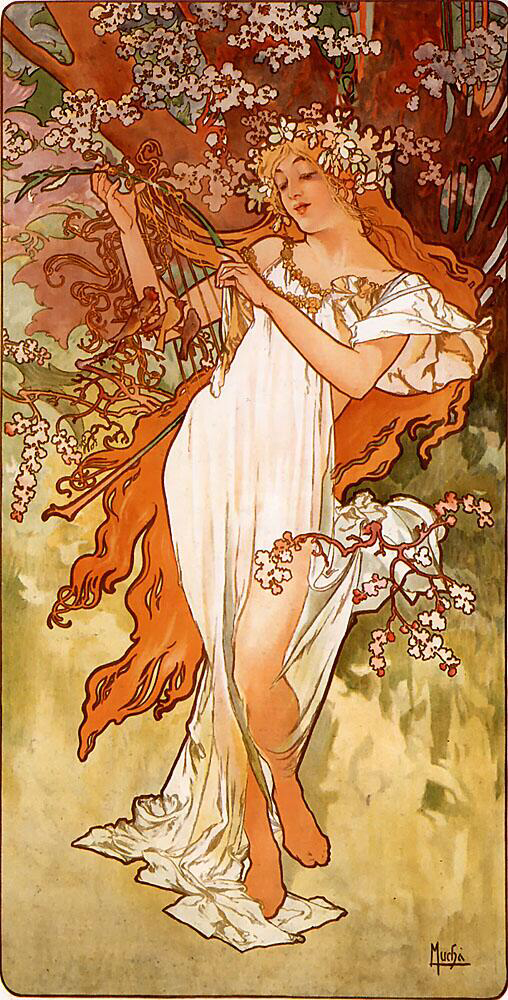 Spring - Alfons Mucha