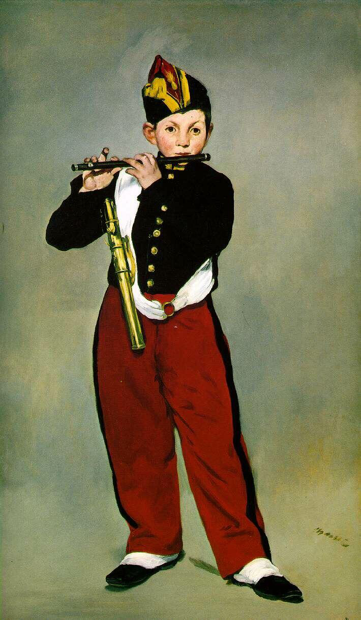 Young Flautist - Édouard Manet