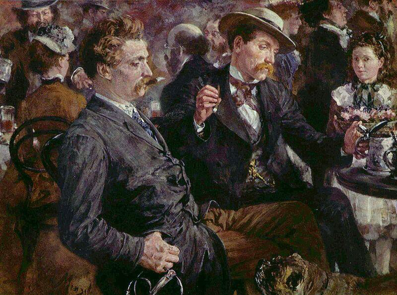 At the Beer Garden - Adolph Menzel