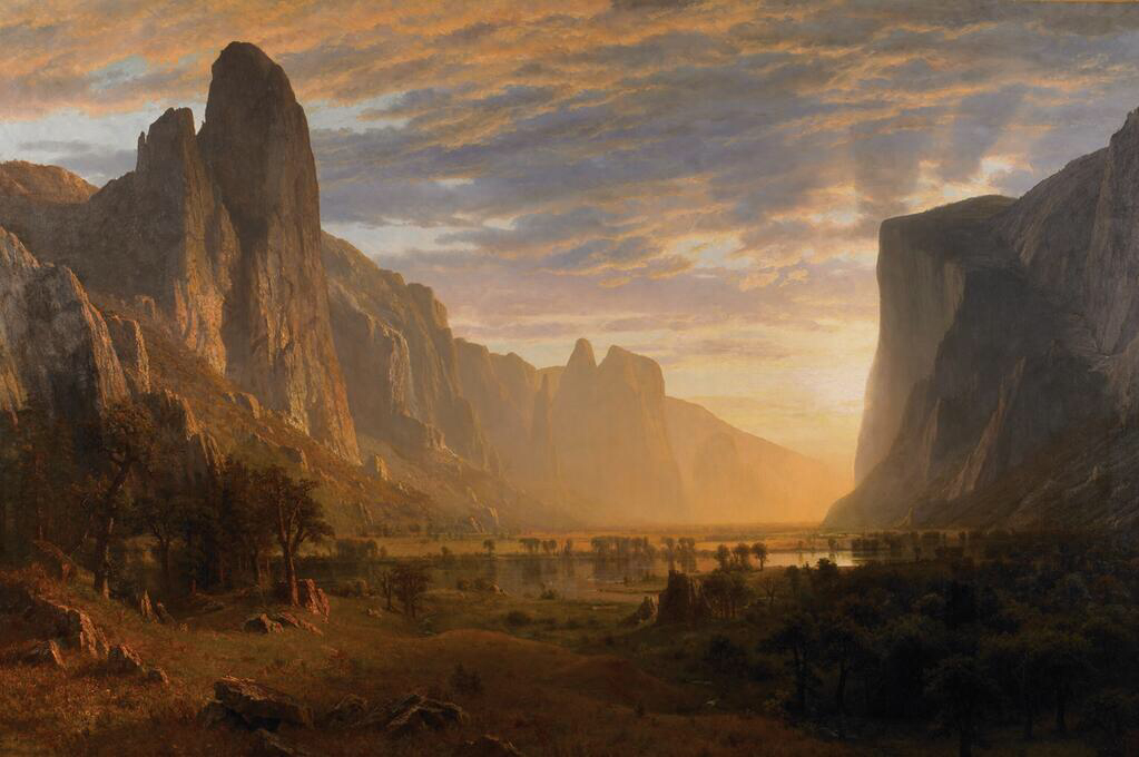 Looking Down Yosemite Valley - Albert Bierstadt