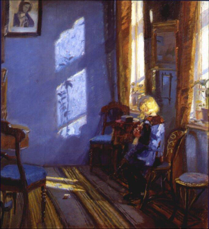 Sunshine in the Blue Room - Anna Kirstine Ancher