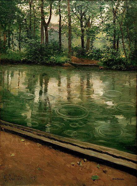 L'Yerres, pluie  - Gustave Caillebotte