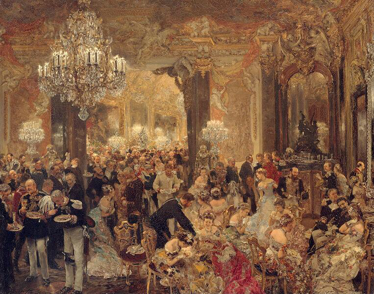 Supper at the Ball - Adolph Menzel