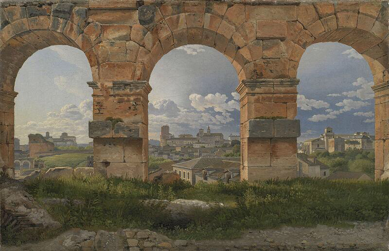A View through Three of the North-Western Arches - Christoffer Wilhelm Eckersberg