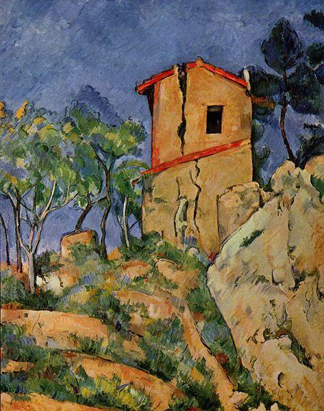 The House with Burst Walls - Paul Cézanne