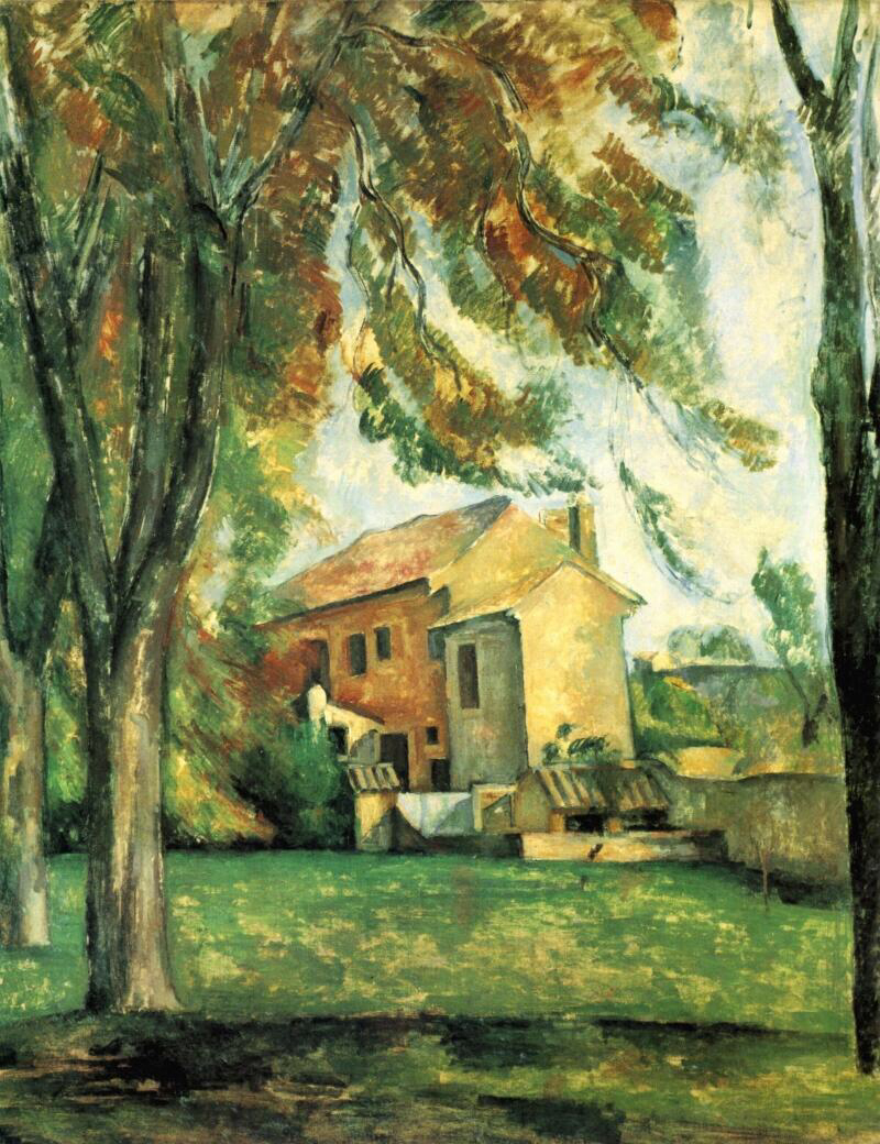 Farmhouse and Chestnut Trees at Jas de Bouffan - Paul Cézanne