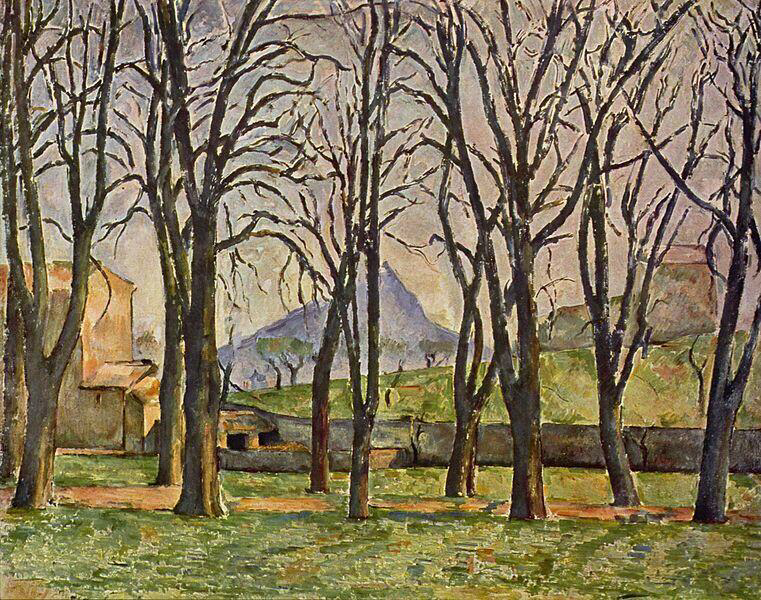 Chestnut Trees at Jas de Bouffan - Paul Cézanne