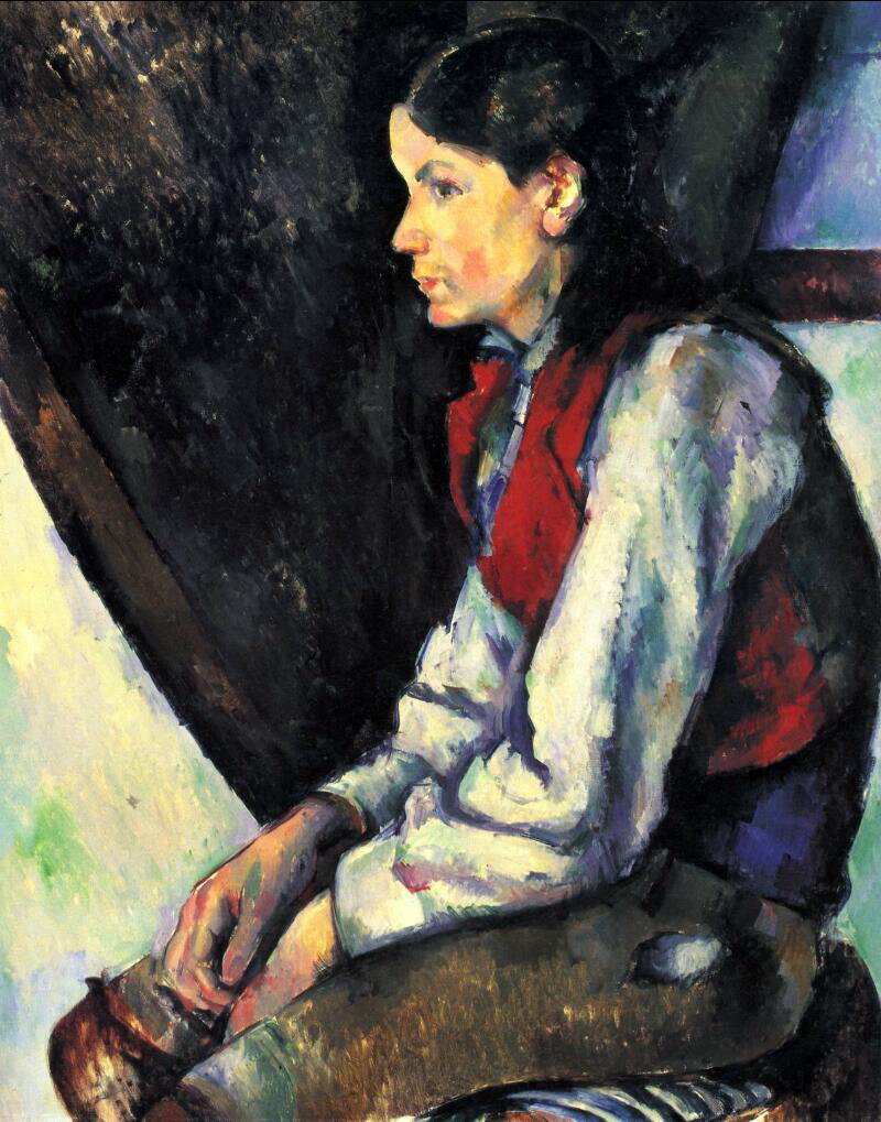 Boy in a Red Vest - Paul Cézanne