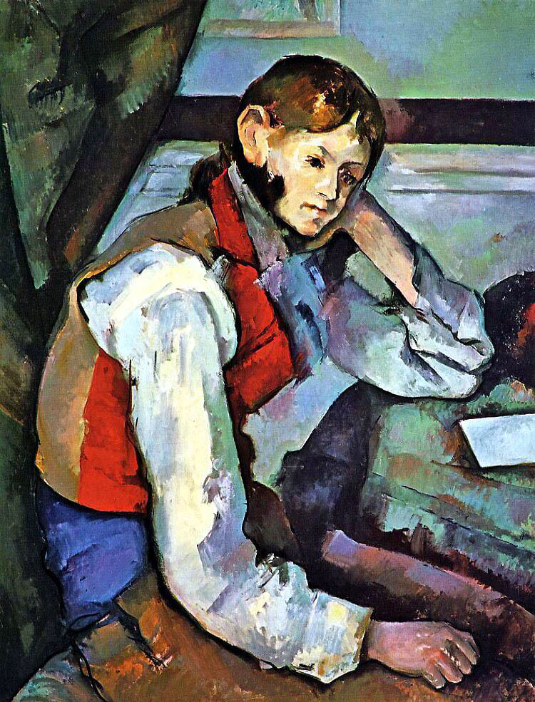 The Boy in the Red Vest - Paul Cézanne