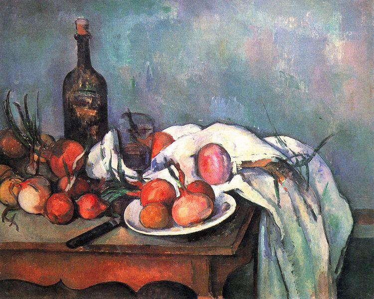 Still Life with Onions - Paul Cézanne