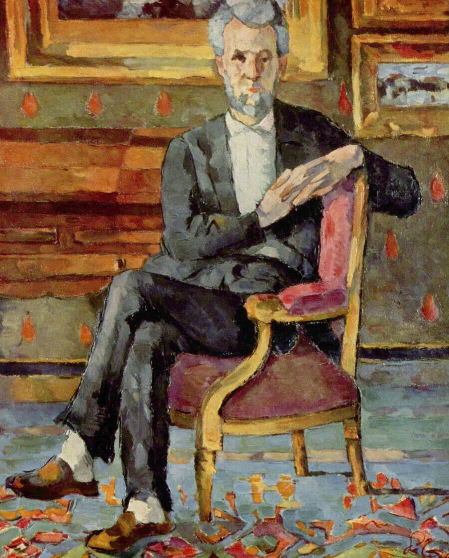 Portrait Of Victor Chocquet Seated - Paul Cézanne