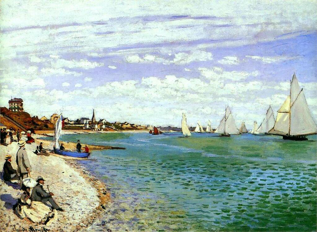 Regatta at Sainte-Adresse  - Claude Monet