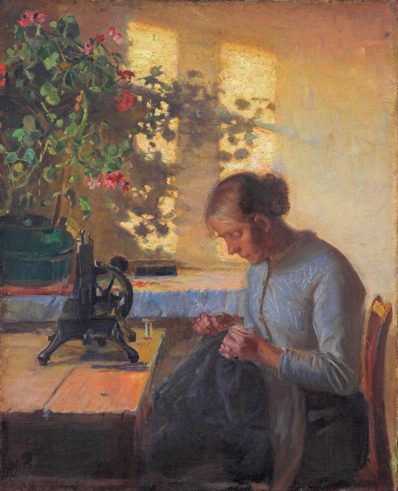 Sewing Fisherman's Wife - Anna Kirstine Ancher
