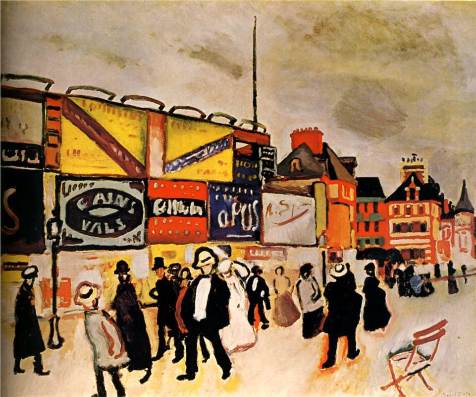Posters at Trouville - Raoul Dufy