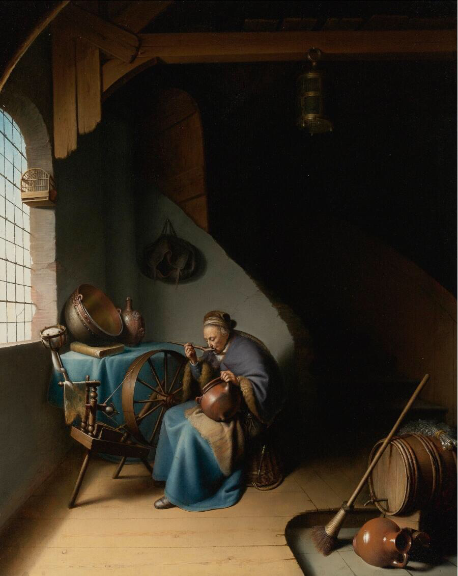 Woman Eating Porridge - Gerrit Dou