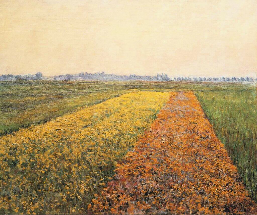 The Yellow Fields at Gennevilliers - Gustave Caillebotte