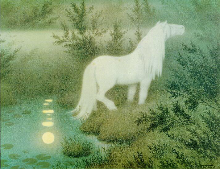 The Nix as a white horse - Theodor Kittelsen