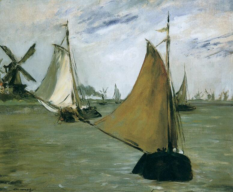 Marine in Holland - Édouard Manet