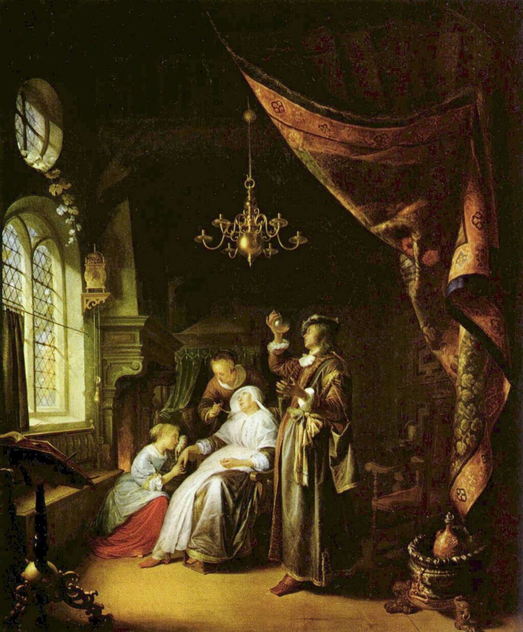 The Dropsical Woman - Gerrit Dou