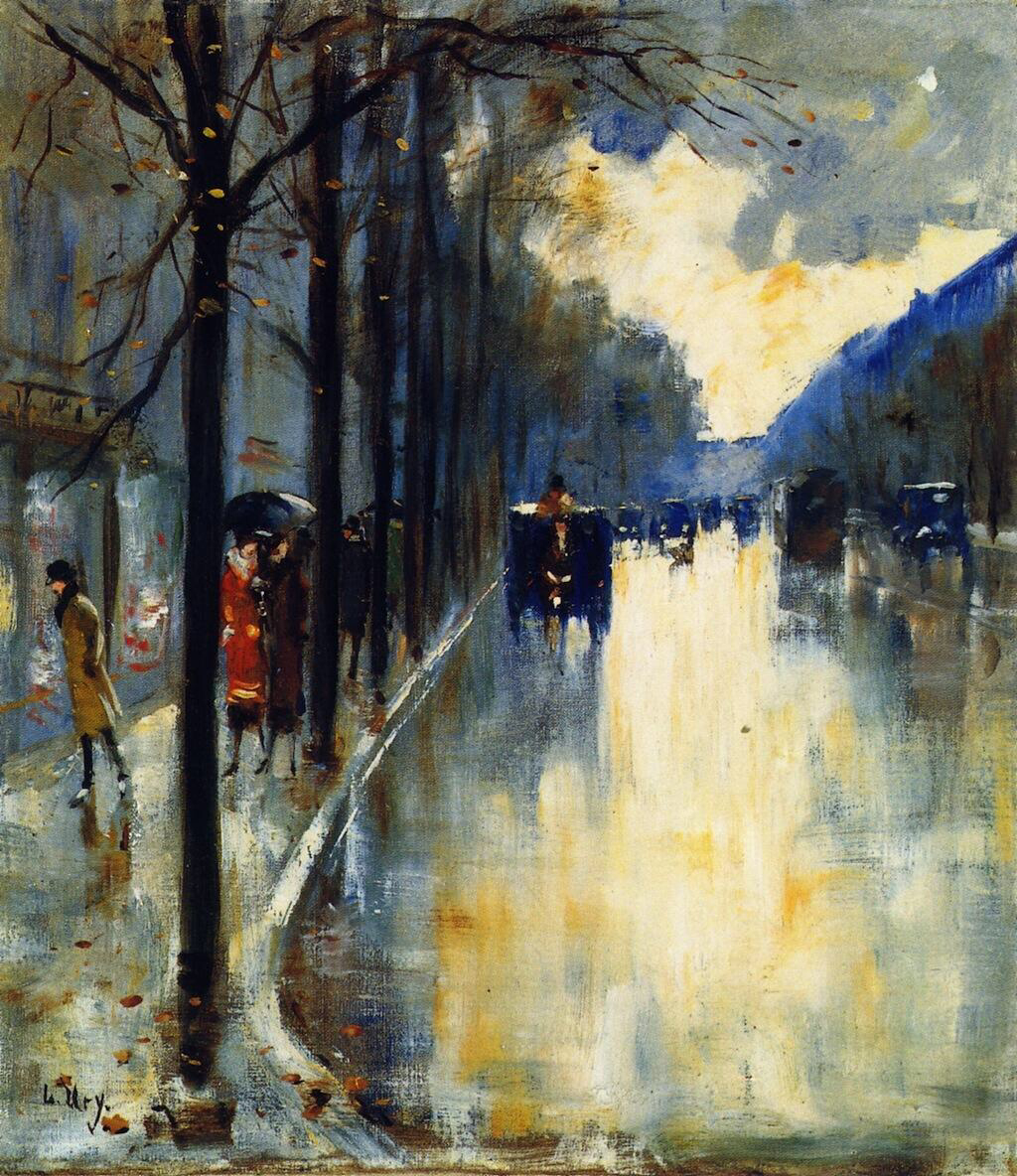 Berlin Street in Late Fall - Lesser Ury