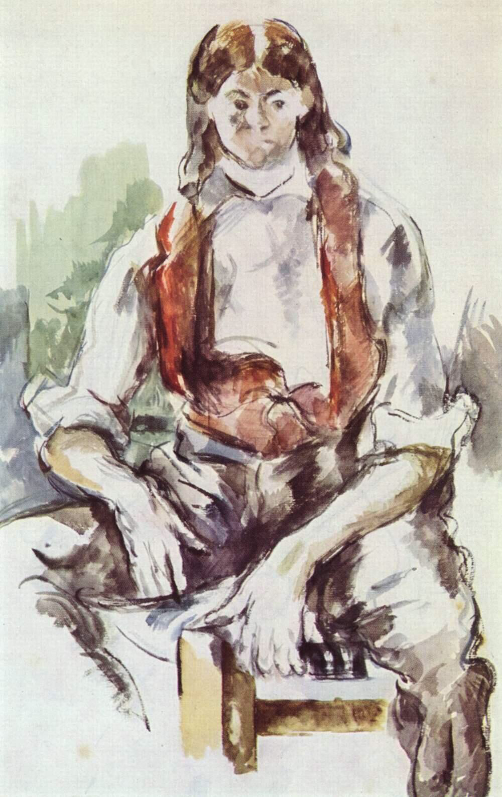 Boy with Red Vest - Paul Cézanne
