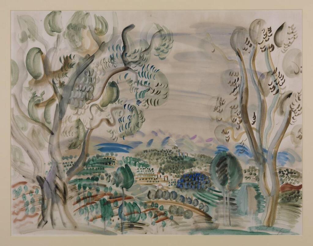 Olive Trees by the Golfe Juan - Raoul Dufy