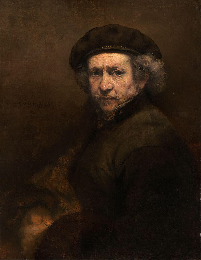 Self-Portrait with Beret and Turned-Up Collar - Rembrandt van Rijn