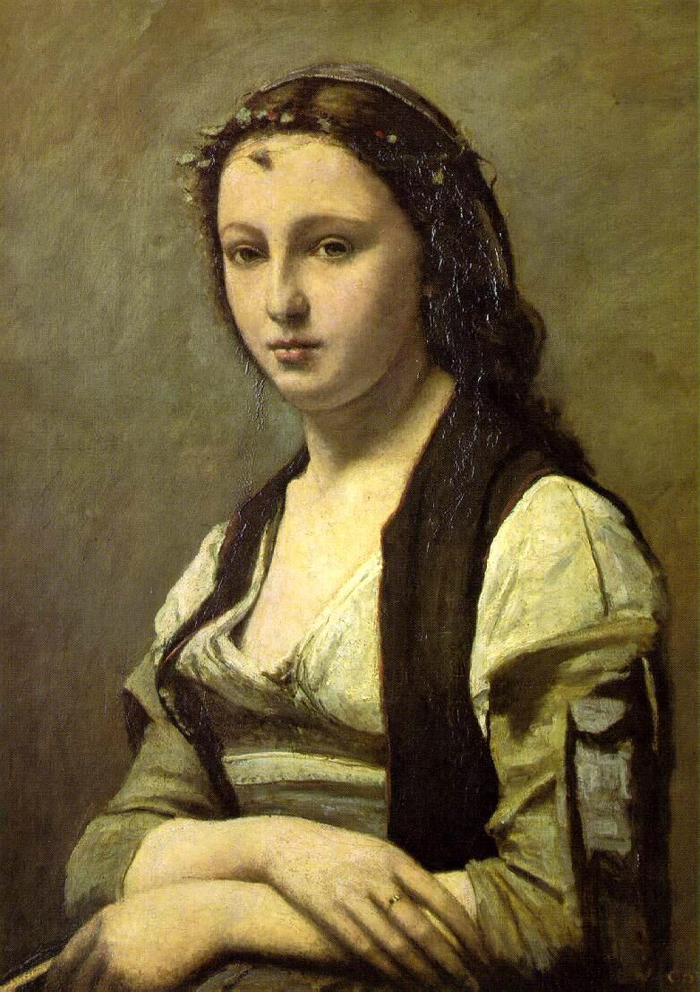 Woman with a Pearl - Camille Corot