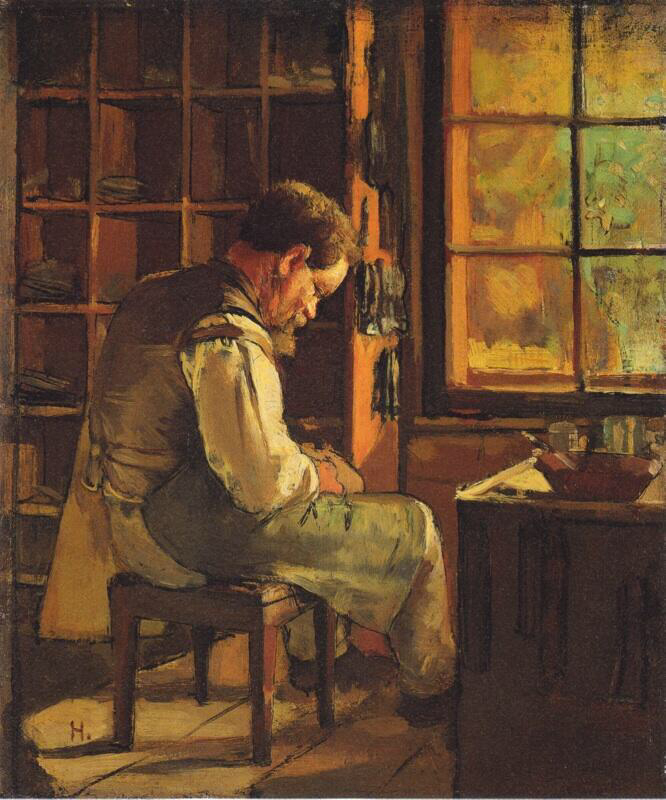 The cobbler by the window - Ferdinand Hodler