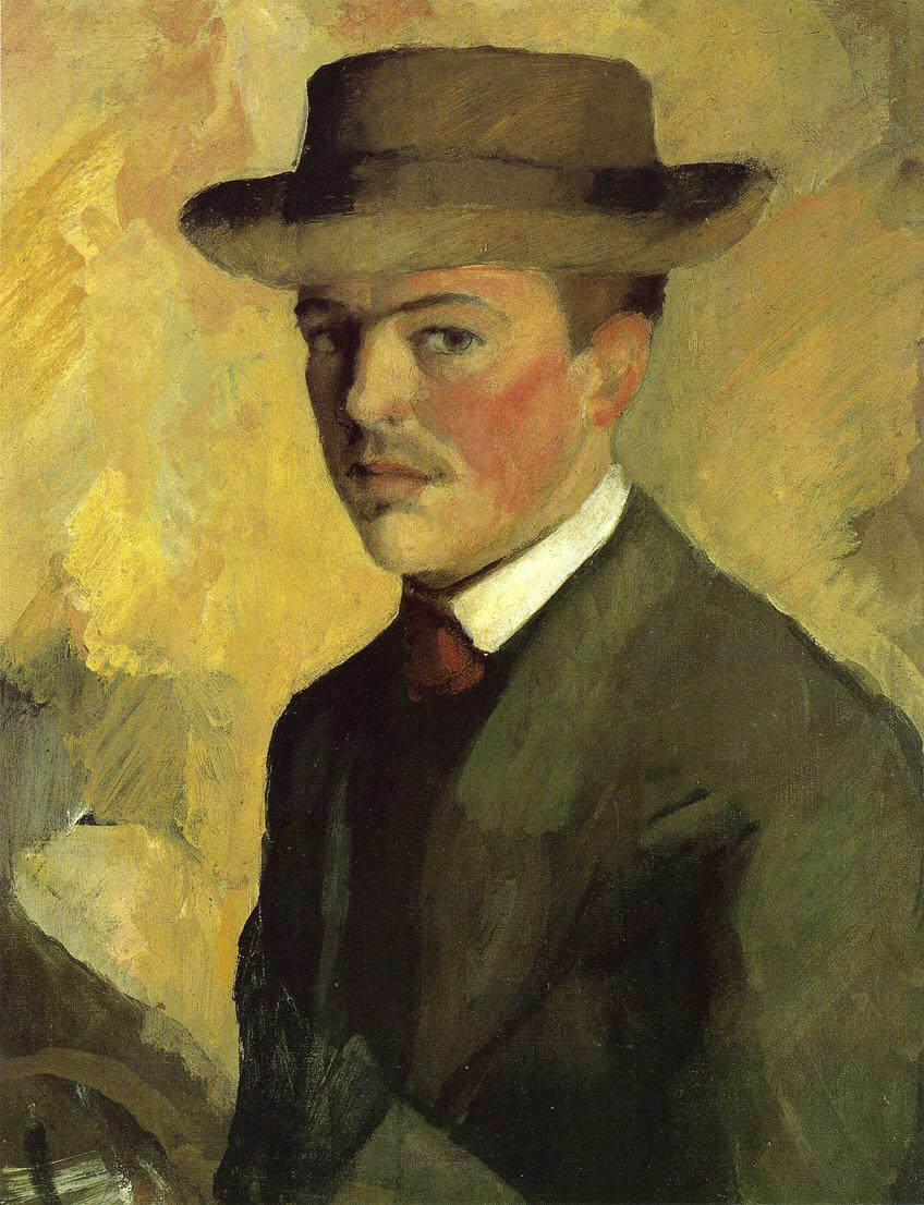 Self Portrait with Hat - August Macke