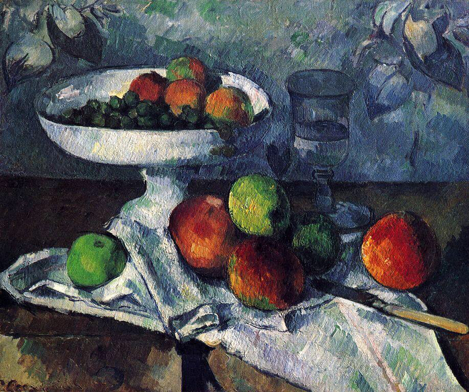 Compotier, Glass and Apples - Paul Cézanne
