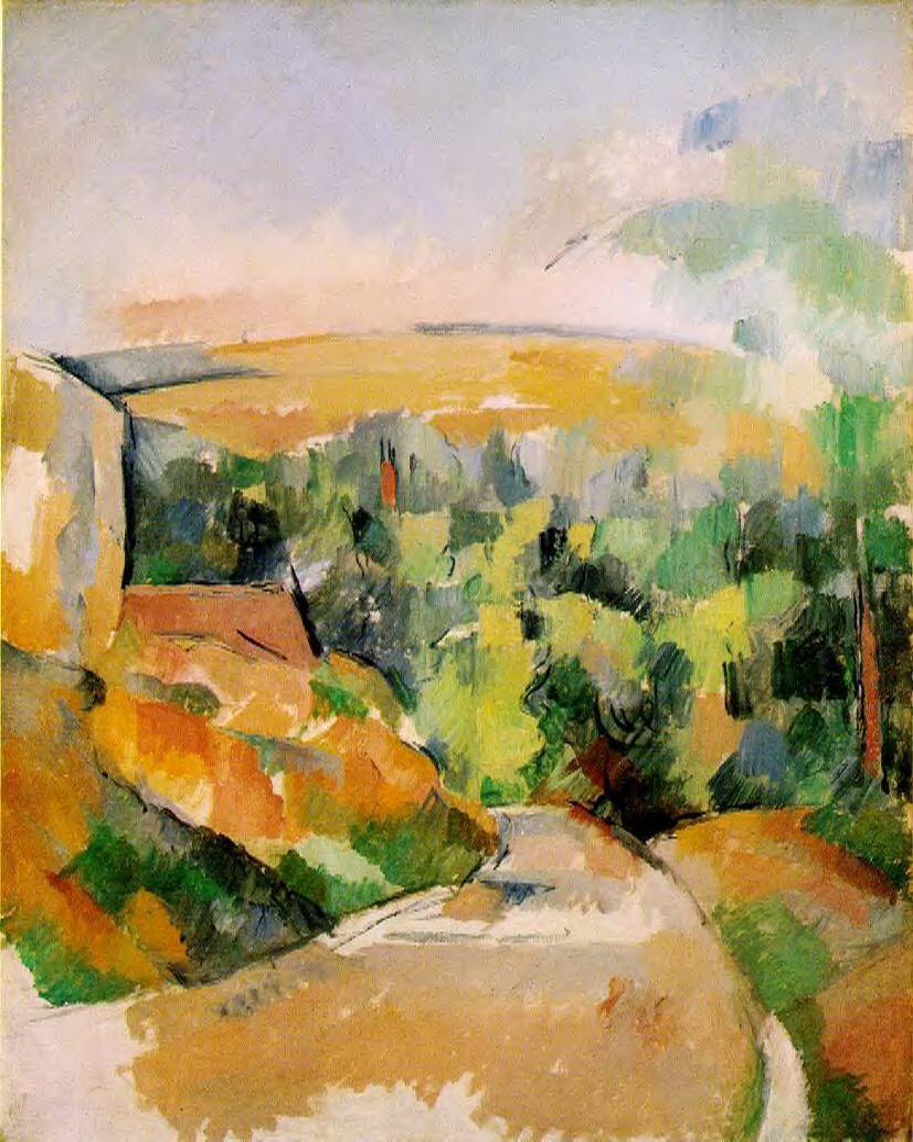 A Bend in the Road - Paul Cézanne