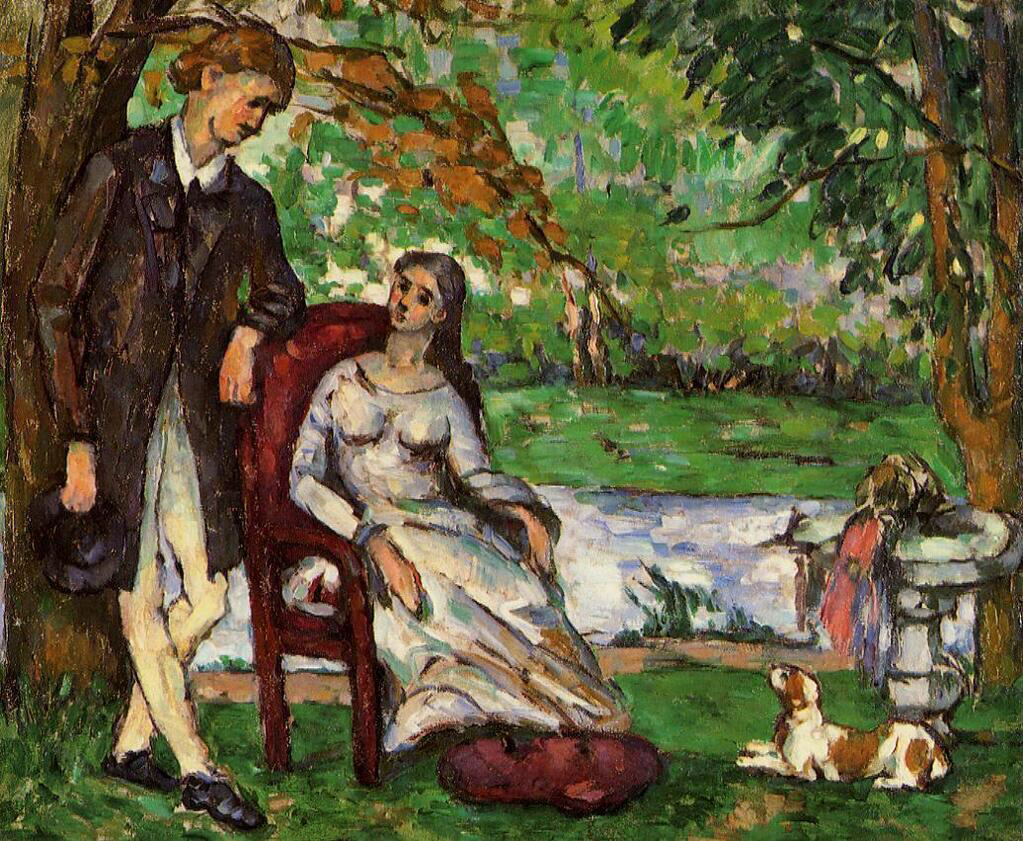 Couple in a Garden - Paul Cézanne